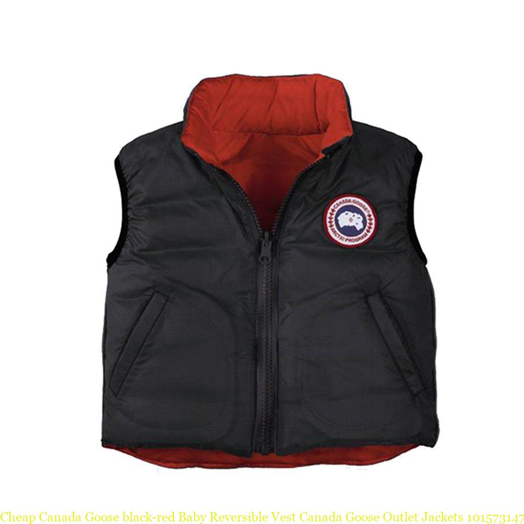 Cheap Canada Goose black-red Baby Reversible Vest Canada Goose Outlet  Jackets 101573147 47e378679