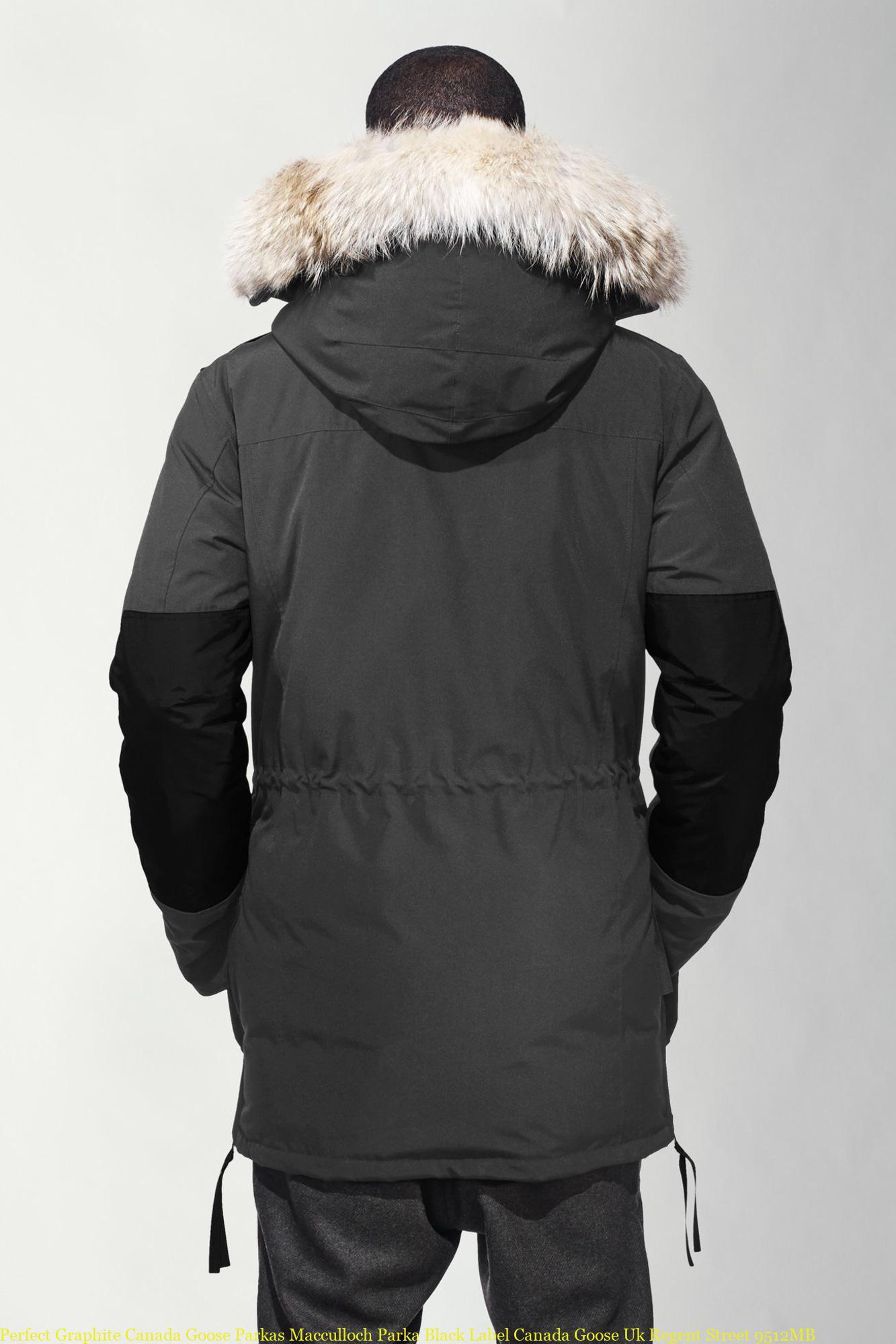 2c7161c29 Perfect Graphite Canada Goose Parkas Macculloch Parka Black Label Canada  Goose Uk Regent Street 9512MB